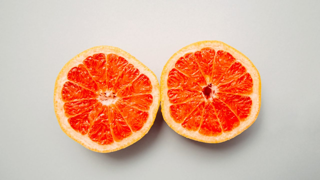 果汁たっぷりなグレープフルーツ