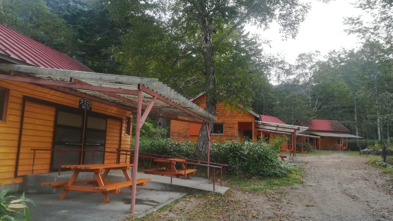菅沼キャンプ村のバンガロー