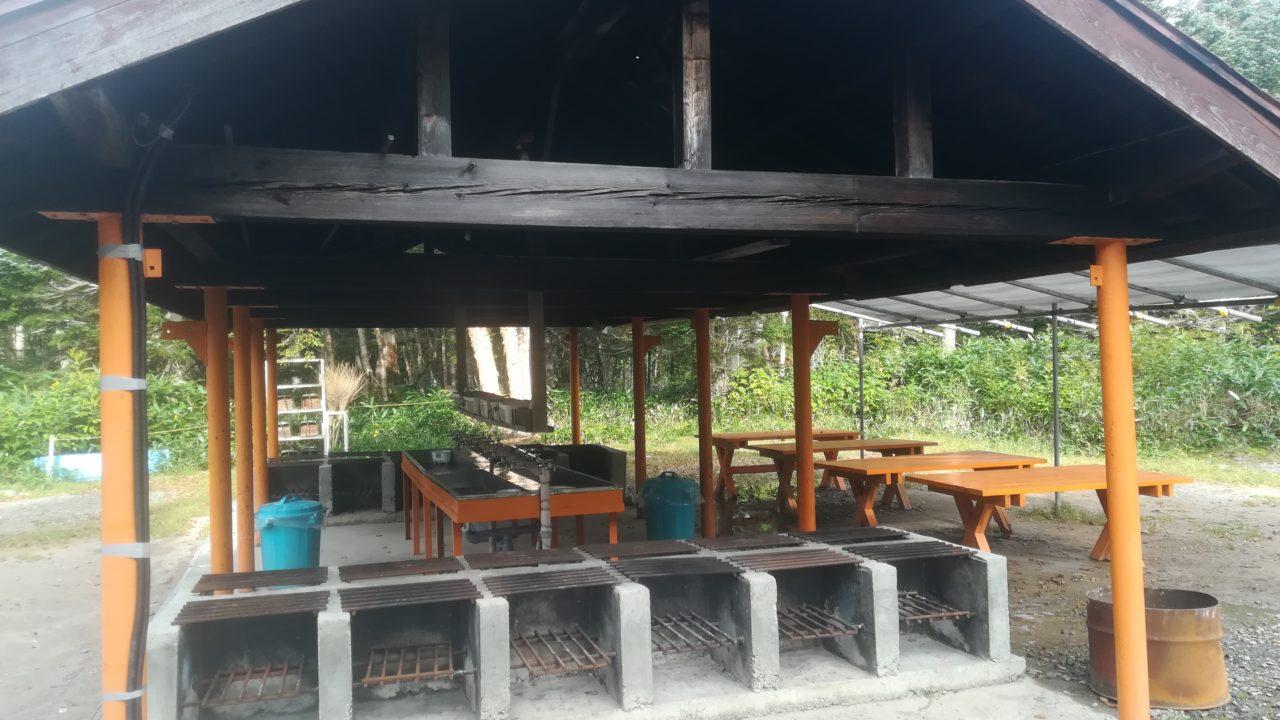 菅沼キャンプ村の炊事場
