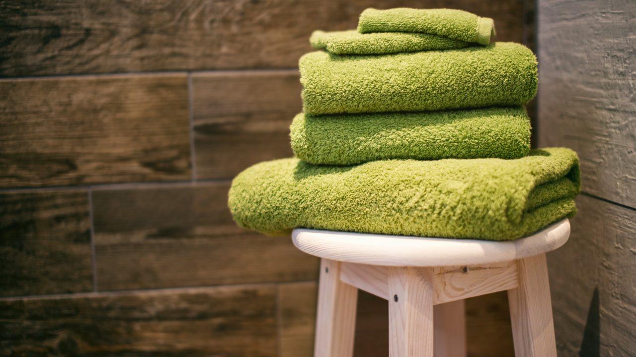 お風呂上がりのタオル